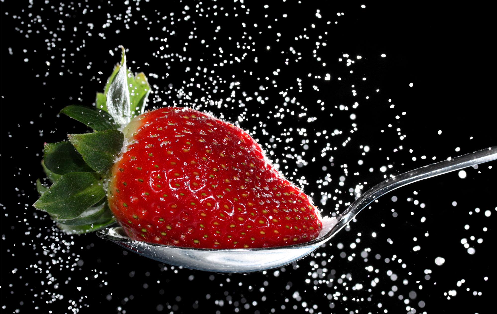 Zuckersüße Erdbeere