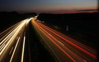 Langzeitaufnahme Autolichter