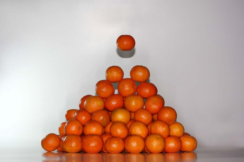Mandarinenpyramide