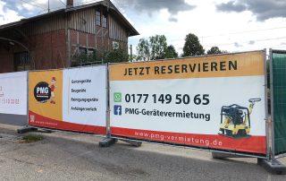 PMG Gerätevermietung Baustellenzäune