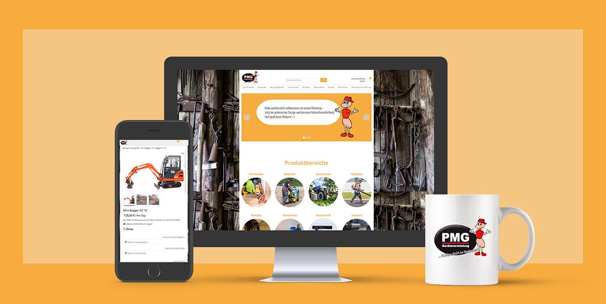 PMG Website und Shop