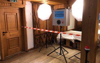 Fotobox Aufbau Rechenberg